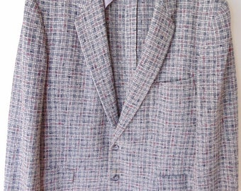 1950's  Date night heavy weight Vintage Sports Jacket Chest 44 in.