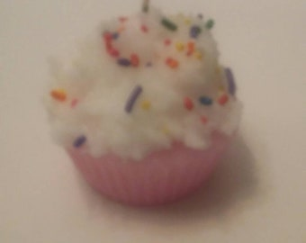 Scented Cupcake Candles  (pink)
