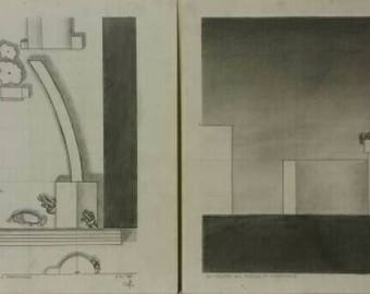 Plan and Section of Max Ernst's The Children are Threatened by a Nightingale