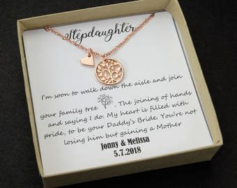 gift for step daughter Step daughter wedding gifts  step daughter necklace gift to step daughter from bride groom stepmother gift wedding