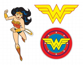 Wonder Woman clipart silhouette – Wonder Woman svg – Woman superhero file – Wonderwoman svg – raster, vector files – svg, eps, png