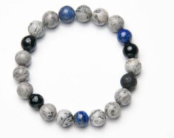 Mens-Ladies Bracelet * fancy Gray */mens-Womens Bracelet * Fancy Gray *