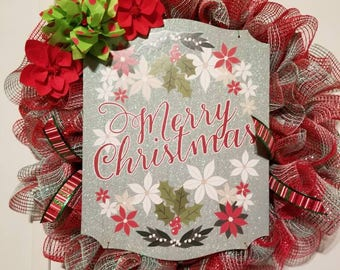 Beautiful Christmas Deco Mesh Wreath