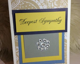 "Deepest Sympathy Greeting Card 5""x7"" Handmade FREE SHIPPING"