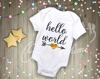 Custom Baby Onesie / Hello World