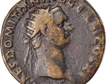 domitian dupondius ef(40-45) copper cohen #432 11.50