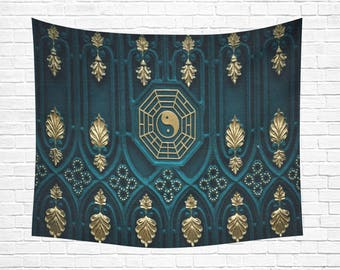 """Ying Yang Wall Tapestry 60""""x 51"""""""