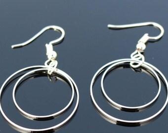 Geometric Drop Earrings - Circular Earrings - Hippy jewellery - Boho Earrings