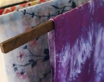 Vintage Purple Tie Dye Silk Scarf