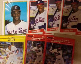 Seven Sammy Sosa cards