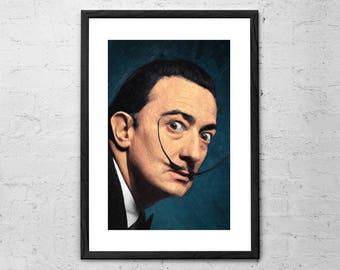 Salvador Dali - Painting - Salvador Dali Art Print - Salvador Dali Poster - Surrealism - Salvador Dali Portrait - Dali Art - Wall Art Print
