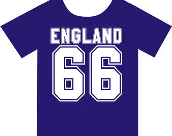 England 66, T-shirt. Available in colour blue, in sizes Small, Medium, Large and Extra Large