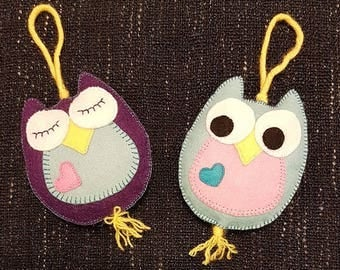 Owl stuffed felt toy