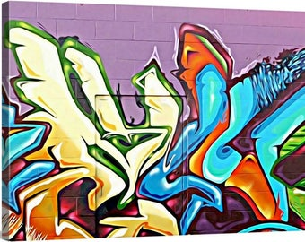 GM 5 - Streets To Canvas - Custom Graffiti Name Sign, Graffiti Art Canvas Print, Personalized Canvas Wall Art, Abstract Graffiti Canvas