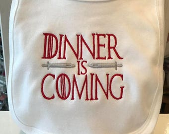 Game Of Thrones Inspired Baby Bib