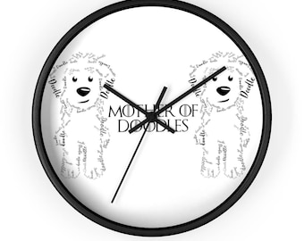 Mother of Doodles Wall Clock - GoldenDoodle / Labradoodle /Golden Doodle