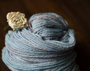 "OOAK Handspun/Hand Dyed Cormo Yarn ""Himalayan Poppy"""