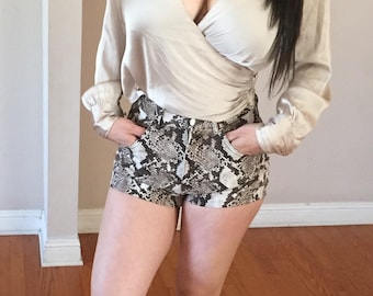 Snake high waist shorts womens size S&M Available
