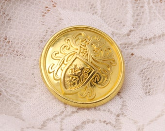 10pcs 2 sizes 21/15mm gold metal zinc alloy buttons vintage button round shank button