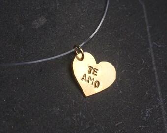 """Neacklace Heart """"I Love You"""""""