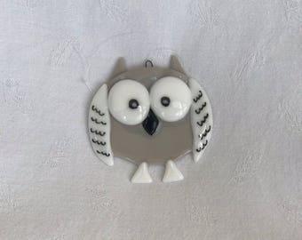 Owl - grey/white
