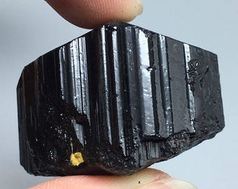59g Natural Black Tourmaline Crystal Stone Gem Original Mineral Specimen