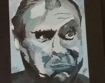 Alfred Hitchcock original painting