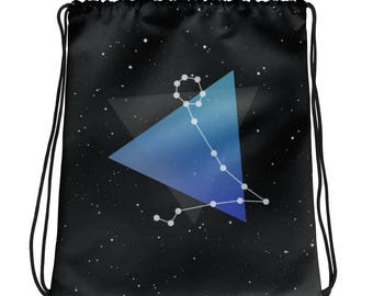 Pisces Zodiac Drawstring bag
