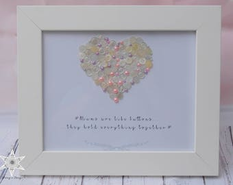 Mums are Like Buttons, they Hold Everything Together - Rectangle Frame