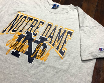 Vintage 90s Notre Dame Fightin Irish T-Shirt size XL