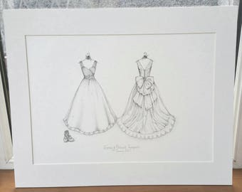 A3 Wedding Dress Portrait