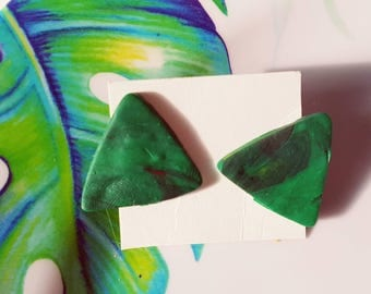 Tropical triangle ear studs