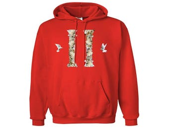 MIGOS - Red Dove Columns Hoodie