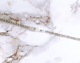 Silver Quartz Bar Bracelet
