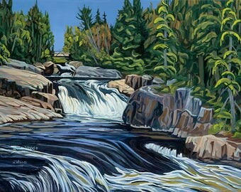 "Ritchie Falls, Haliburton, Ontario, 16"" x 20"" giclee print - Limited Edition of 50 - Canadian Art"