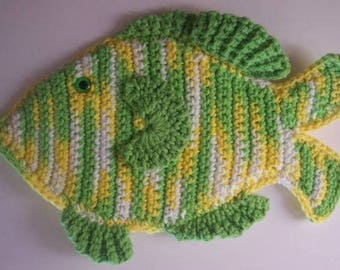 Crochet Fish Potholder Pattern