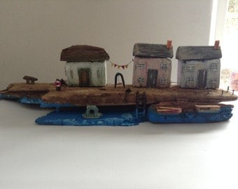 Driftwood cottages and barn