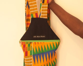 Multicolor Wax pattern backpack