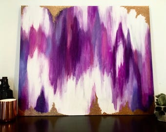 Purple Hues - Acrylic Abstract Painting