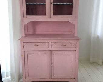 Vintage years 3o light pink cabinet