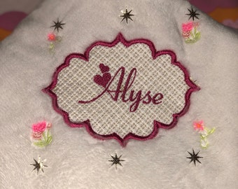 Personalized Embroidered Baby Blanket