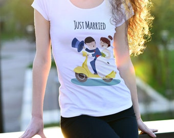 T-Shirt  Just Married | Woman