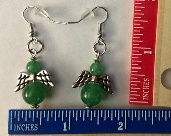 Hand made Green Aventurine Earrings