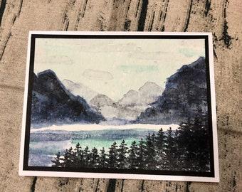 Mountain scene greeting card