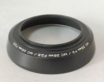 Minolta genuine metal lens hood mc 28mm f2, 28mm f2.8, 28mm f3.5 lens ee-k1068