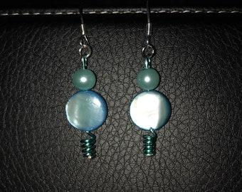 Minty Blue Wire Earrings