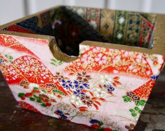 Decorative trinket box collaged with origami paper