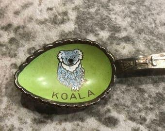 Vintage Australia Spoon Cloisonné Inlay of a Koala Bear