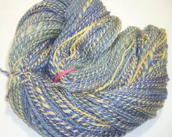 Mulberry Silk Blend,  BFL, Handspun yarn, Handpainted, wool yarn, DK weight -246 yards