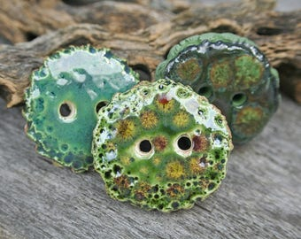 Handmade Button Set of Three
